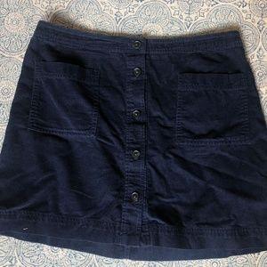 GAP Button Front Navy Blue Skirt
